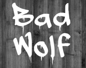 Doctor Who Bad Wolf Decal