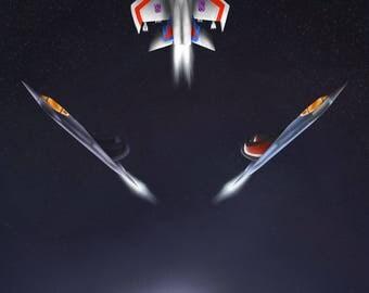 Space Seekers - A3 Print