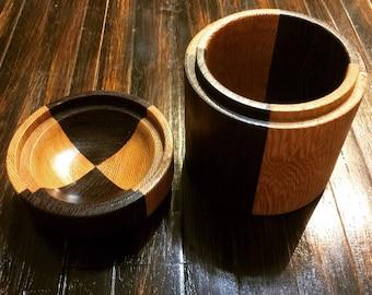 HandmadeTwo tone lidded box