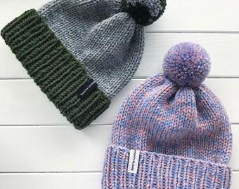 Knit Hat with Pom Pom