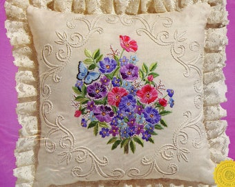 Janlynn Candlewicking Embroidery Butterfly and Anemone