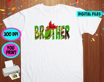 TMNT. Iron On Transfer. Tmnt Printable DIY Transfer. Tmnt Brother Shirt DIY. Instant Download. Digital Files Only.