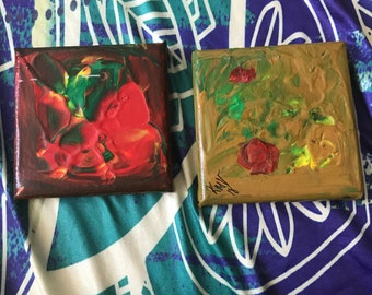 4 x 4 abstract canvas paint