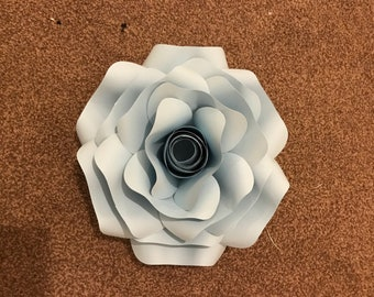 Medium baby blue rose
