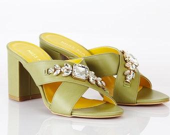Limited Edition Gem High Heel Mules