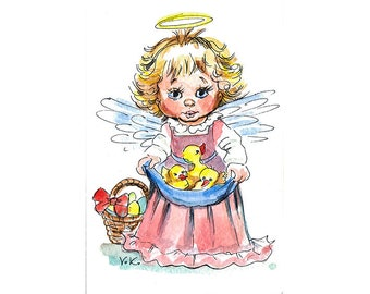 Angel With Chicks
