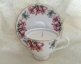 Colclough,Longton England, Tea Cup Soy Candle