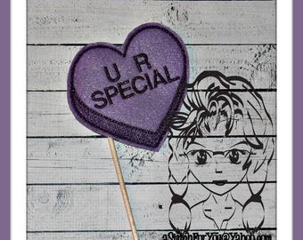 U R SPeCIAL HeART Themed Holiday PHoTO PRoP 4 Parties and Games ~ In the Hoop ~ Downloadable DiGiTaL Machine Embroidery Design by Carrie