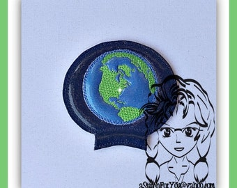 EARTH Ear (Add On  ~1 Pc) Mr Ms Mouse Ears Headband ~ In the Hoop ~ Downloadable DiGiTaL Machine Embroidery Design by Carrie