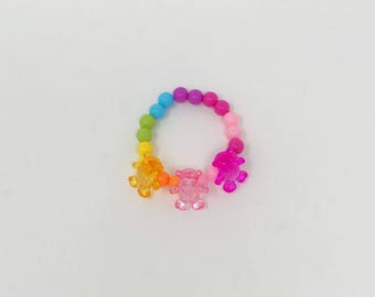 Animal jewelry/ kids bracelet/ childrens jewelry/ toddler bracelet/ chunky bead bracelet/ gift for niece/ girls birthday gift/ kids jewelry