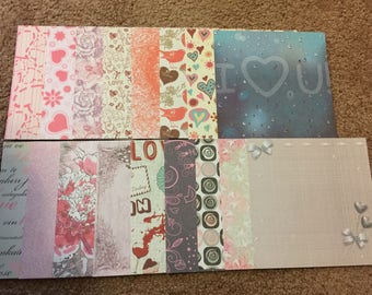 Valentine's Day 6x6 themed scrapbooking cardstock