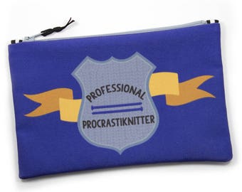 Knitting Tool Bag, Procrastiknitter, Project Bag, Needle Case