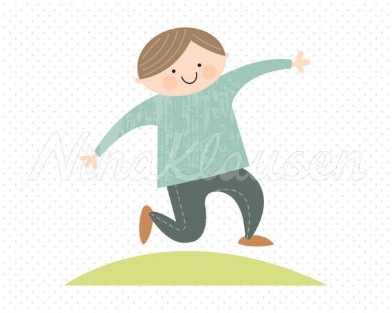 Jumping Boy Clipart for Commercial Use - 0003