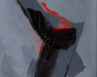 Numero 17, Canvas Art, Abstract Art, abstract expressionist, street art, wall art, original, modern art, 16x20