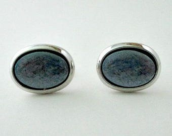 Hickok Vintage Cuff Links Cufflinks - Silver Grey Cufflinks - Vintage Men's Dude Dad Jewelry Gift