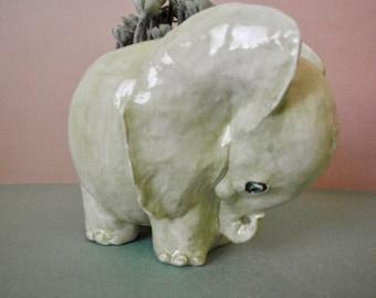 SHY   baby elephant planter