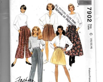 McCall's Misses' Skirt In Two Lengths, Culottes In Two Lengths and Pants Pattern 7902