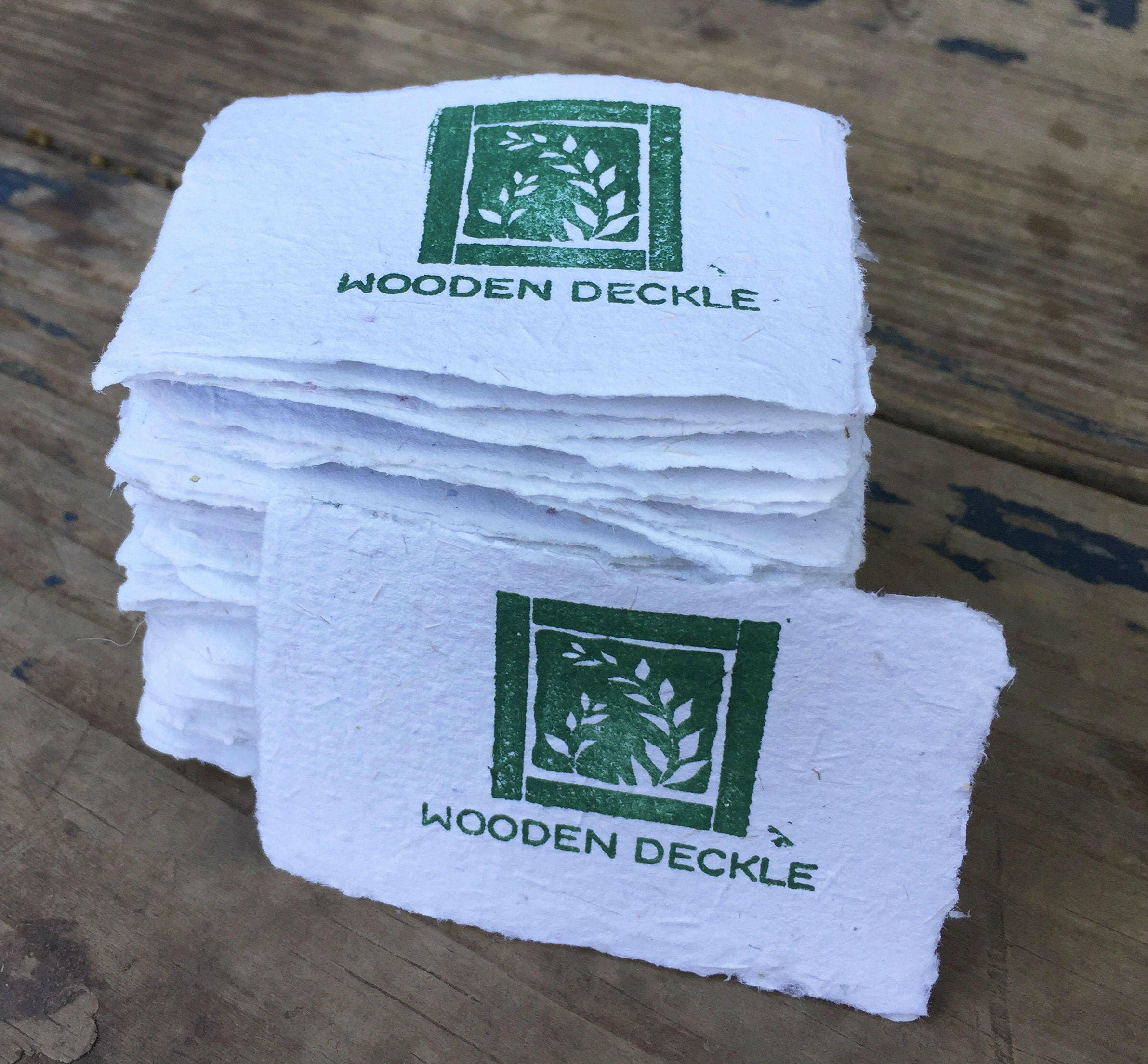 """multi mold and deckle for 2x3"""" business card size handmade paper"""