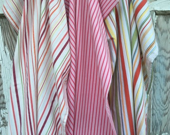 Reclaimed Pillowcase Fabric-Stripes Fun-