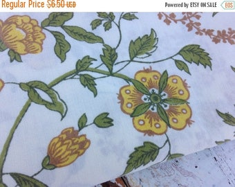 SALE- Vintage Floral Fabric -Yellow Floral