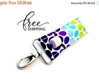 ON SALE LippyClip™ Lip Balm Keychain Holder for Chapstick, Burt's Bees, etc.    Rainbow Dots Holder for Chapstick