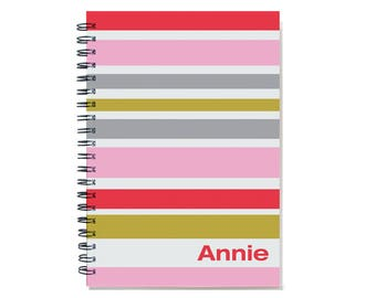 2017 Personalized Planner, 12 Month Calendar, weekly planner, personalized calendar, be my bridesmaid, Pink Red, SKU: pli cherry