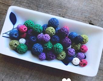 Colorful Lava Bead Kit  - DIY Jewelry