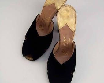 Black Velvet Custom Made Frank Brothers Shoes