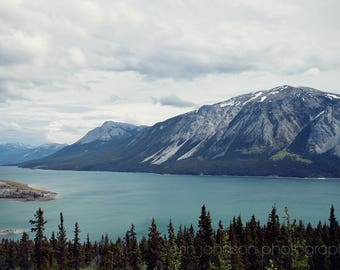 canada landscape photography, yukon territory,  british columbia,  white pass, blue lake and mountain,  klondike highway alaska AK04