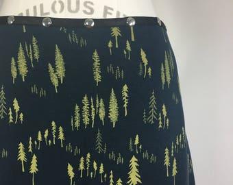 Skirt Winter Petal, snap skirt, tree skirt, blue skirt, hiking skirt, forest skirt, adjustable skirt, Erin MacLeod, FREE SHIPPING