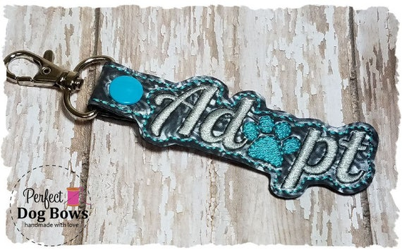 Adopt Keychain//Dog Rescue//Adopt a Pet//Adopted Dog//Pet Lover//Adopt Key Fob