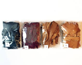 1-Pack Leather Scraps Craft Pack
