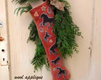 Christmas Corral Stocking printed pattern