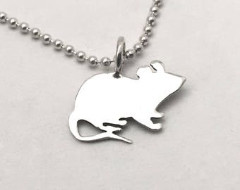 Mouse Pendant made from Vintage Silver US Dime Coin