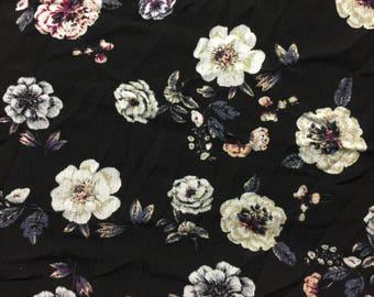 Crinkle Rayon Fabric 3-1/4 Yards