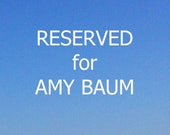 Reserved for Amy Baum