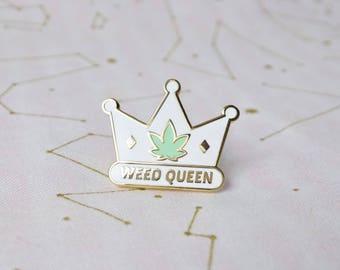 Weed Queen Hard Enamel Pin - Broad City Lapel Pin
