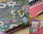 Grey whimsical Flowers Mini Happy Planner Cover