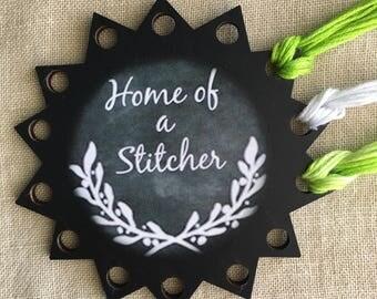 Floss organizer thread keep Home of a Stitcher embroidery chalk art floss holder