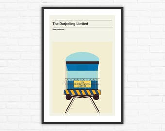 The Darjeeling Limited Minimalist Movie Poster, Wes Anderson