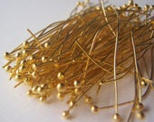 Gold Color Ball Head Pins 22 Gauge 2 Inches 100 Pieces