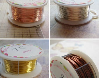 Soft Plated Round Wire Tarnish Free 18 To 28 Gauge on a Spool