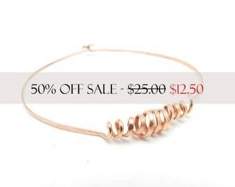 Copper Bangle Bracelet, Hammered Copper Bangle, Minimalist Jewelry, Unisex Jewelry, Men's Bracelet, Copper Bangle, By Durango Rose