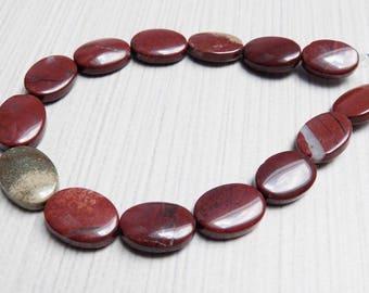 Apple Jasper oval beads