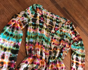 Multicolored Abstract print dress sz M by im.butterflycreations