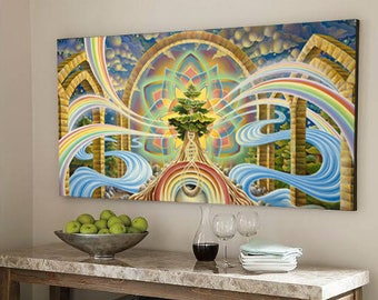 """Giclée on Canvas - """"Room with a View"""" by Ishka Lha"""