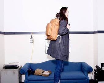 Backpack No.2 in Tan Leather
