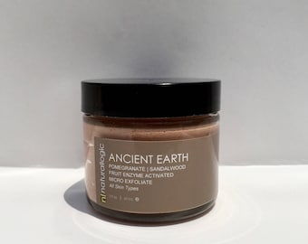 ANCIENT EARTH Micro Exfoliate. Resurfacing Micro Polish. Facial Scrub. Natural Organic Chemical Free Non Toxic Skin Care. Vegan.