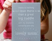 SALE Personalised I Love More Mother's Day Card - Mum Card - Father's Day - Mother's Day