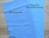 Novasuede Microfibor Fabric with Free Nicoles BeadBacking Sky & Powder Blue SPB2